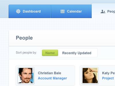 CakeHR People module. User interface.