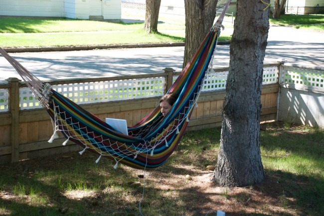 Working From the Hammock.