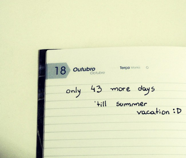 Vacation notebook.