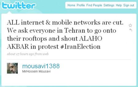 Iran's Twitter revolution.