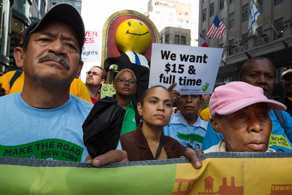 Walmart Workers Demand $15 Wage in Several Protests