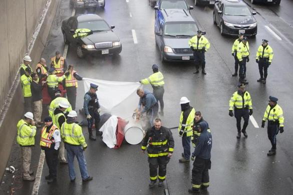 City employee fired after taking part in I-93 protest