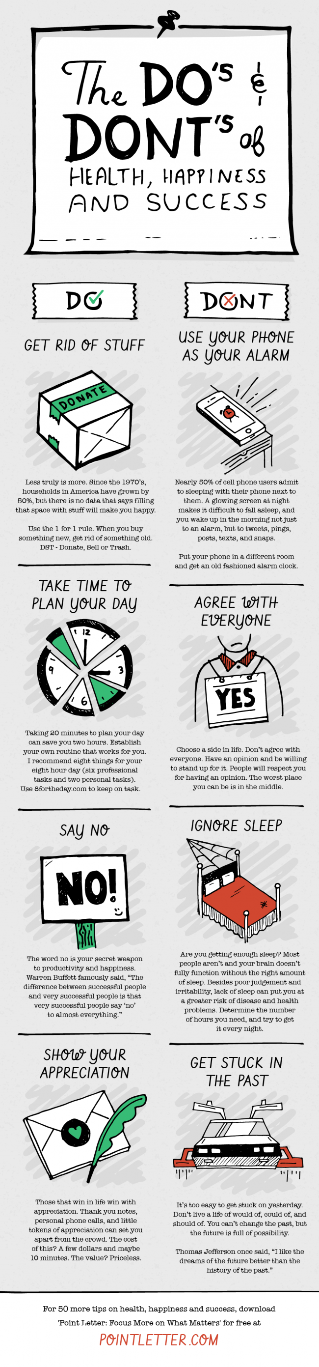 The Do's & Dont's of Health, Happiness and Success [Infographic]