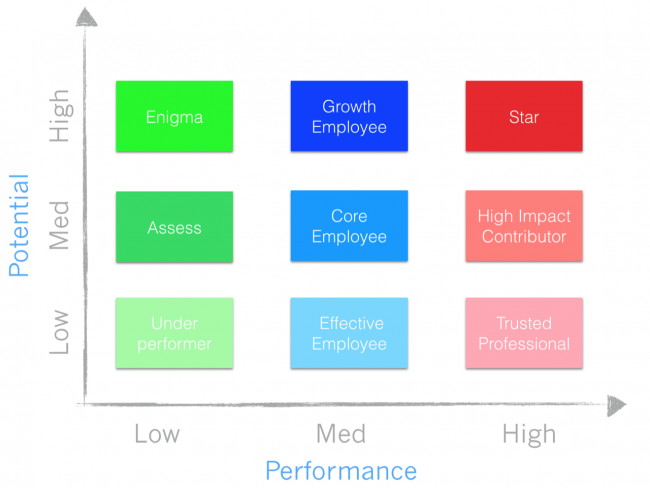 Startup Best Practices 11 - The 9 Box Matrix Talent Model employee performance