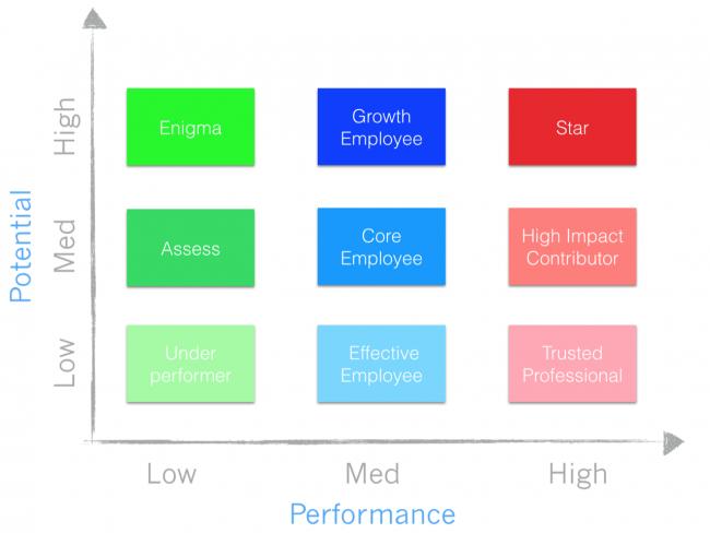 Startup Best Practices 11 - The 9 Box Matrix Talent Model employee performance