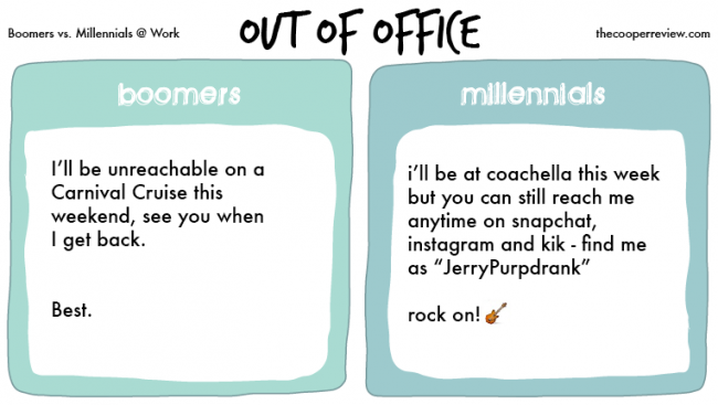 Baby Boomers and Millennials. What's the Difference?
