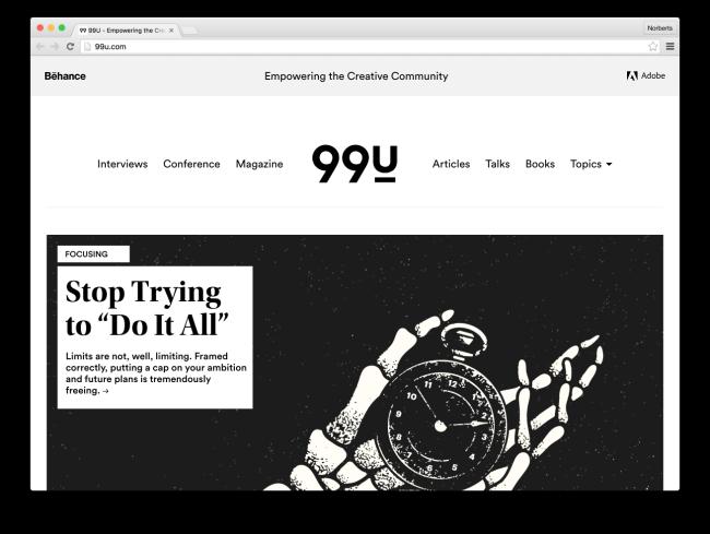 99U - Empowering the Creative Community