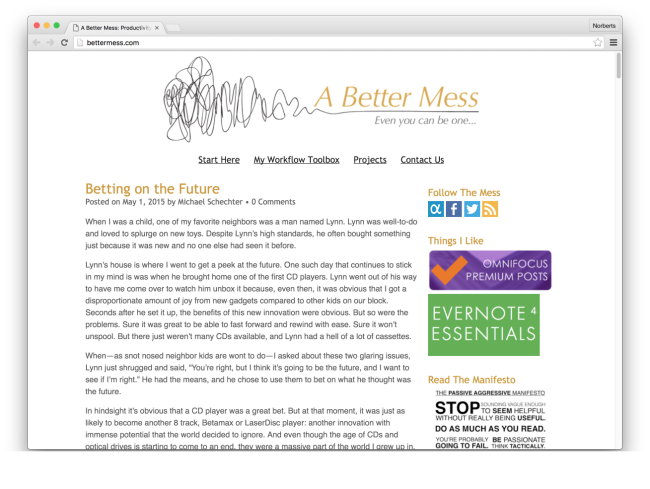 A Better Mess: Productivity, Creativity, Geekery and Struggle with Michael Schechter