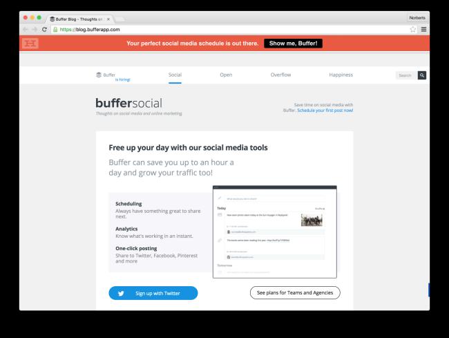 Buffer Blog - Thoughts on Social Media & Online Marketing