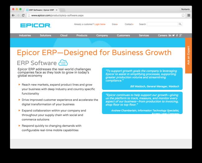 ERP Software | Epicor ERP