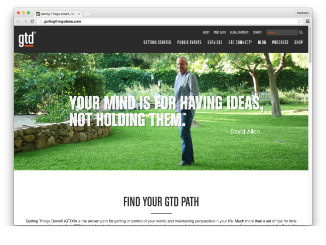 Getting Things Done®, GTD®, and David Allen Company | Home