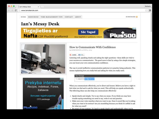Ian's Messy Desk