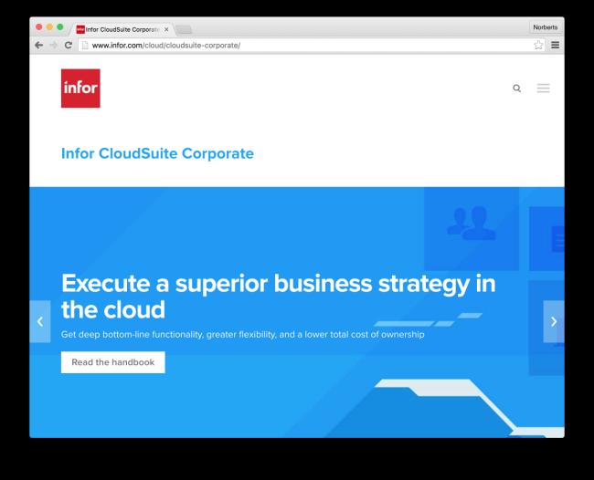 Infor CloudSuite Corporate| Enterprise Financial Management