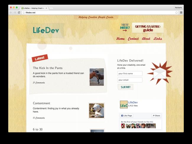 LifeDev – Helping Creative People Create