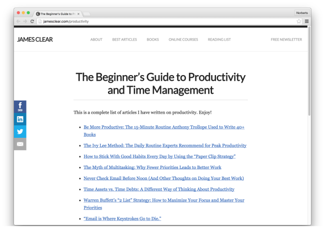 The Beginner's Guide to Productivity and Time Management | James Clear 2016