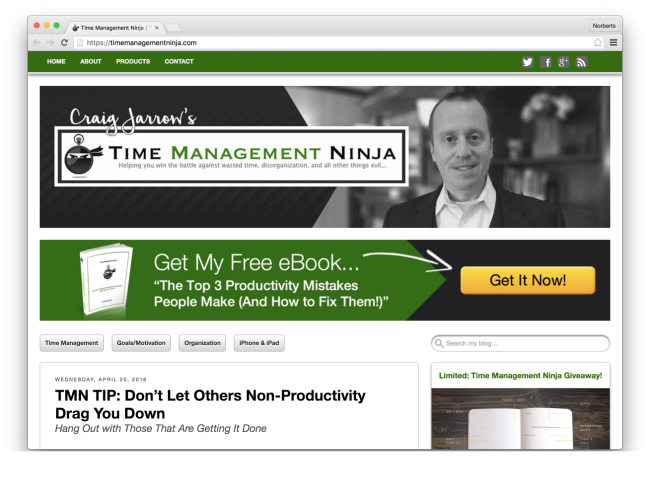 Time Management Ninja | %22Winning the battle against wasted time, disorganization, clutter, and all other things