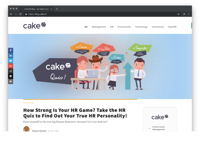 CakeHR Blog - we deliver weekly easy-to-implement HR tips! 2018-12-14 10-40-38