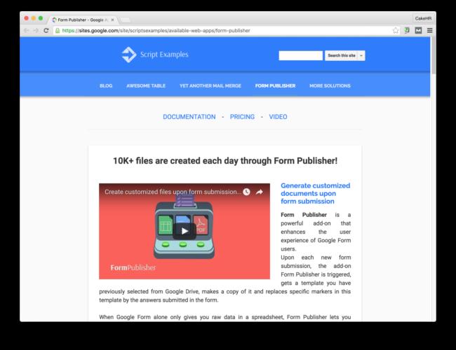 form publisher google