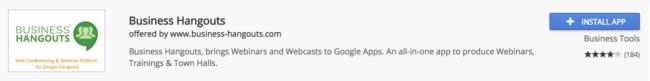 business hangouts google