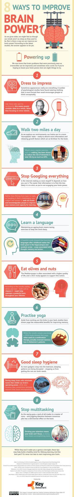 8 Eight Ways To Improve Brain Power (Infographic)