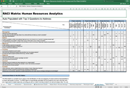 Human Resources Analytics Self-Assessment Pre-Filled EXAMPLE