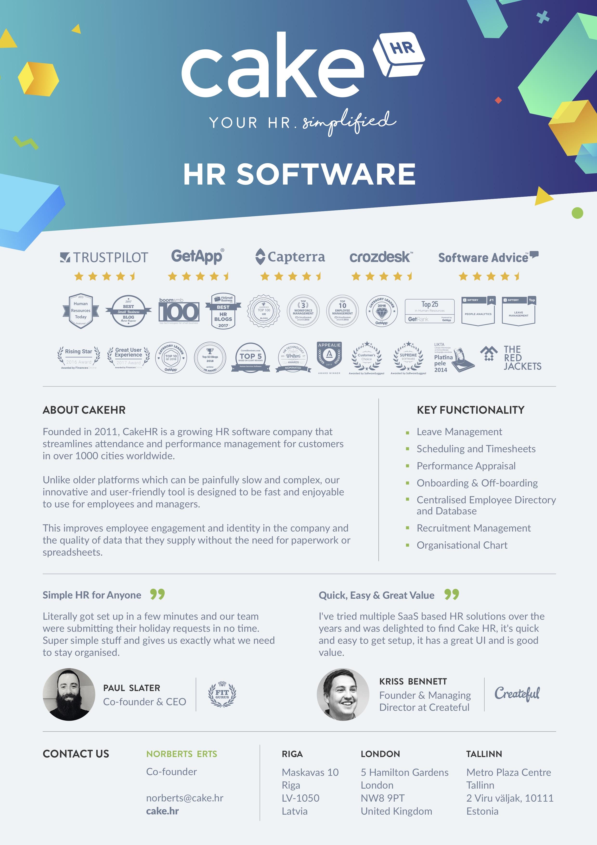 HR management software CakeHR