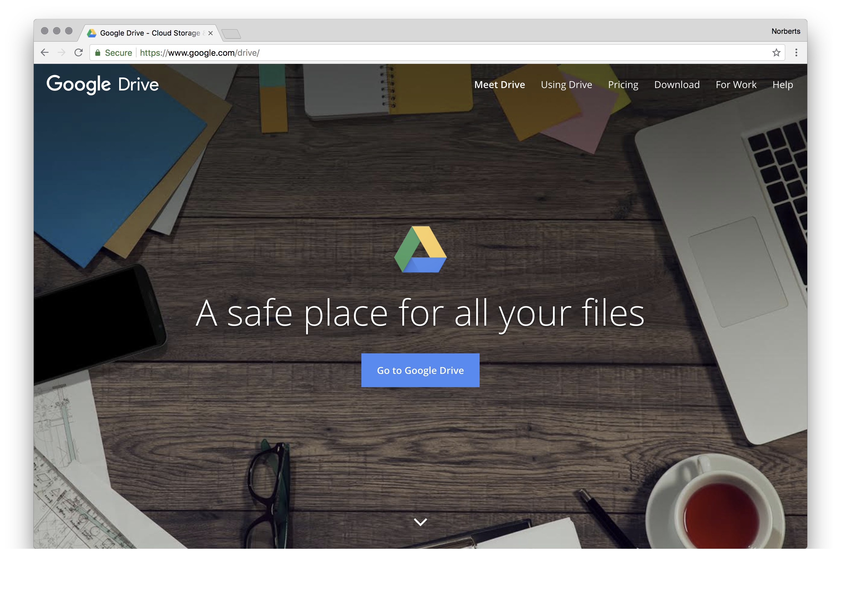 Get access to files anywhere through secure cloud storage and file backup for your photos, videos, files and more with Google Drive.
