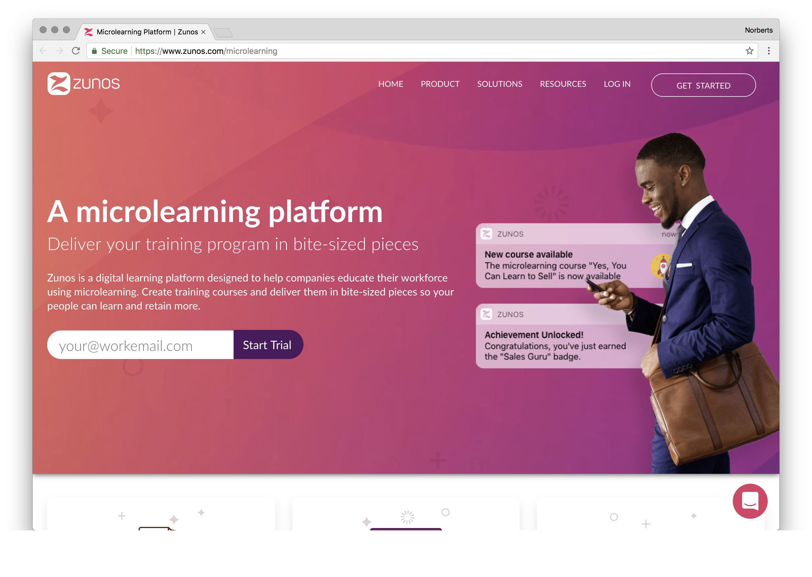 Zunos is a digital learning platform designed to help companies educate their workforce using microlearning. Create training courses and deliver them in bite-sized pieces so your people can learn and retain more.