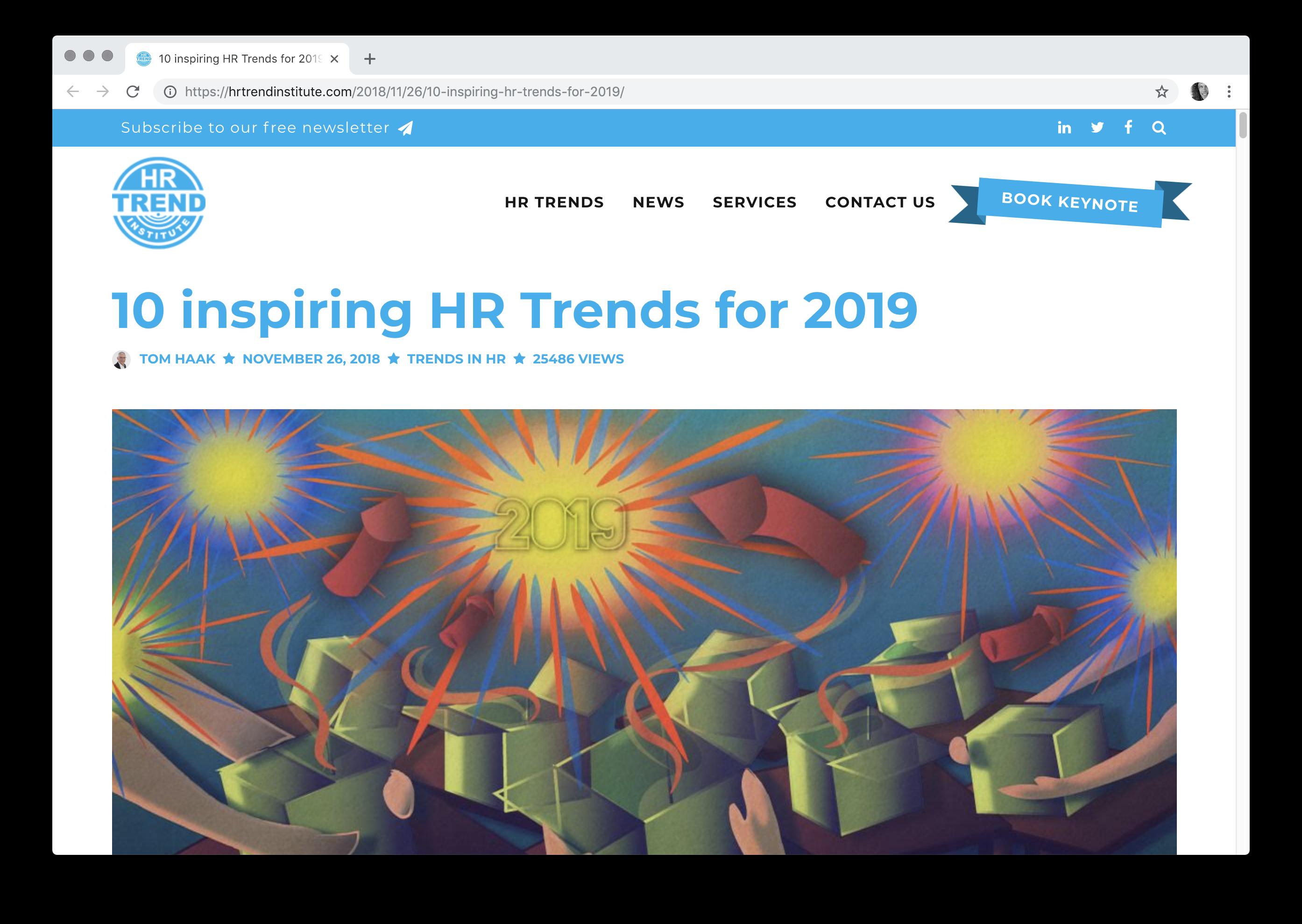 10 inspiring HR Trends for 2019 cakehr