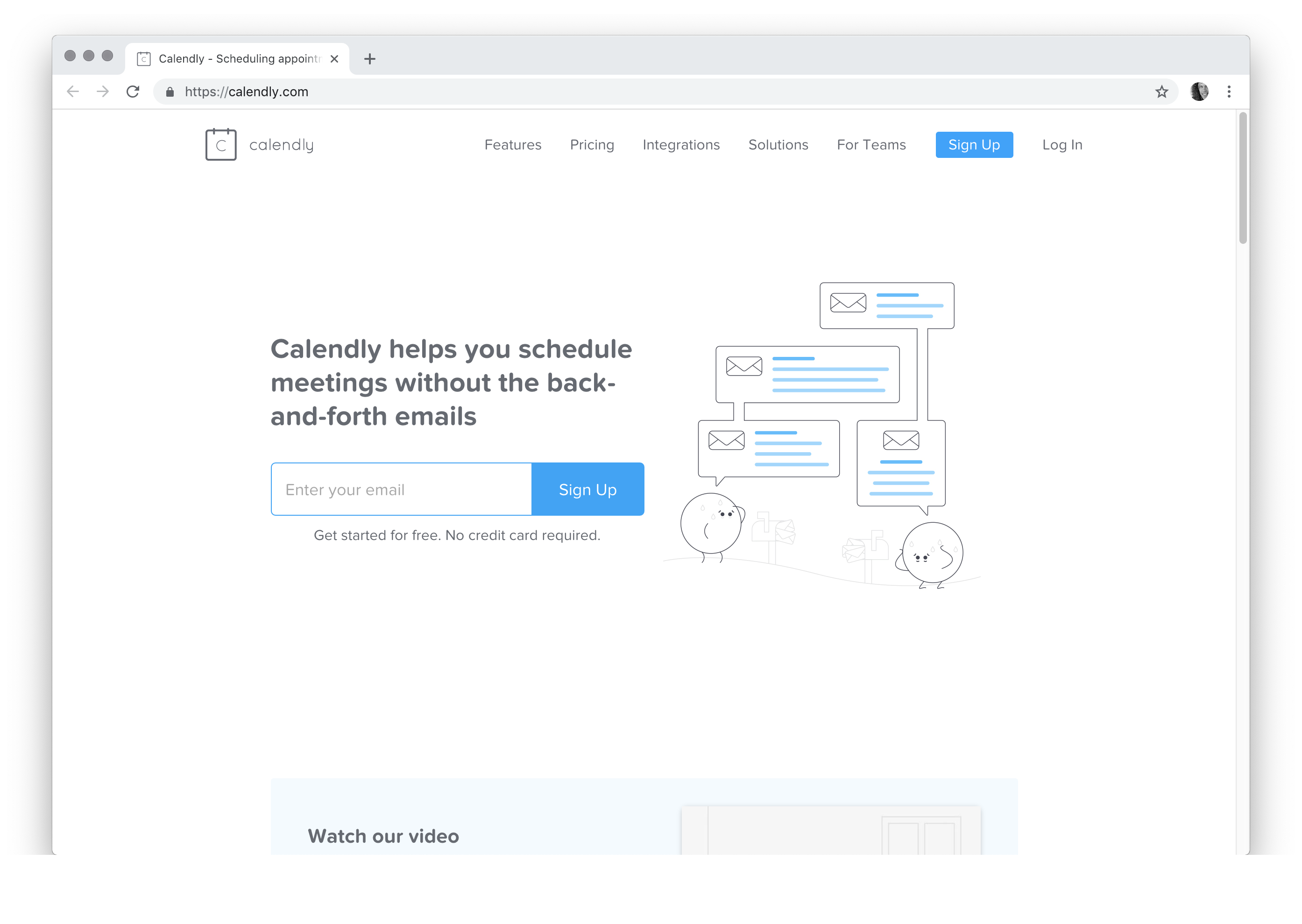 Calendly helps you schedule meetings without the back-and-forth emails