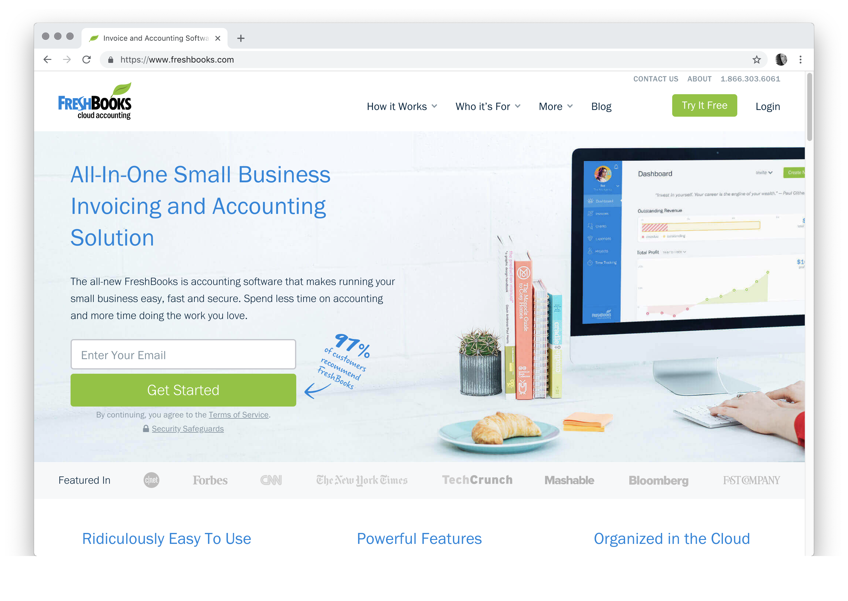 All-In-One Small Business Invoicing and Accounting Solution The all-new FreshBooks is accounting software that makes running your small business easy, fast and secure. Spend less time on accounting and more time doing the work you love.