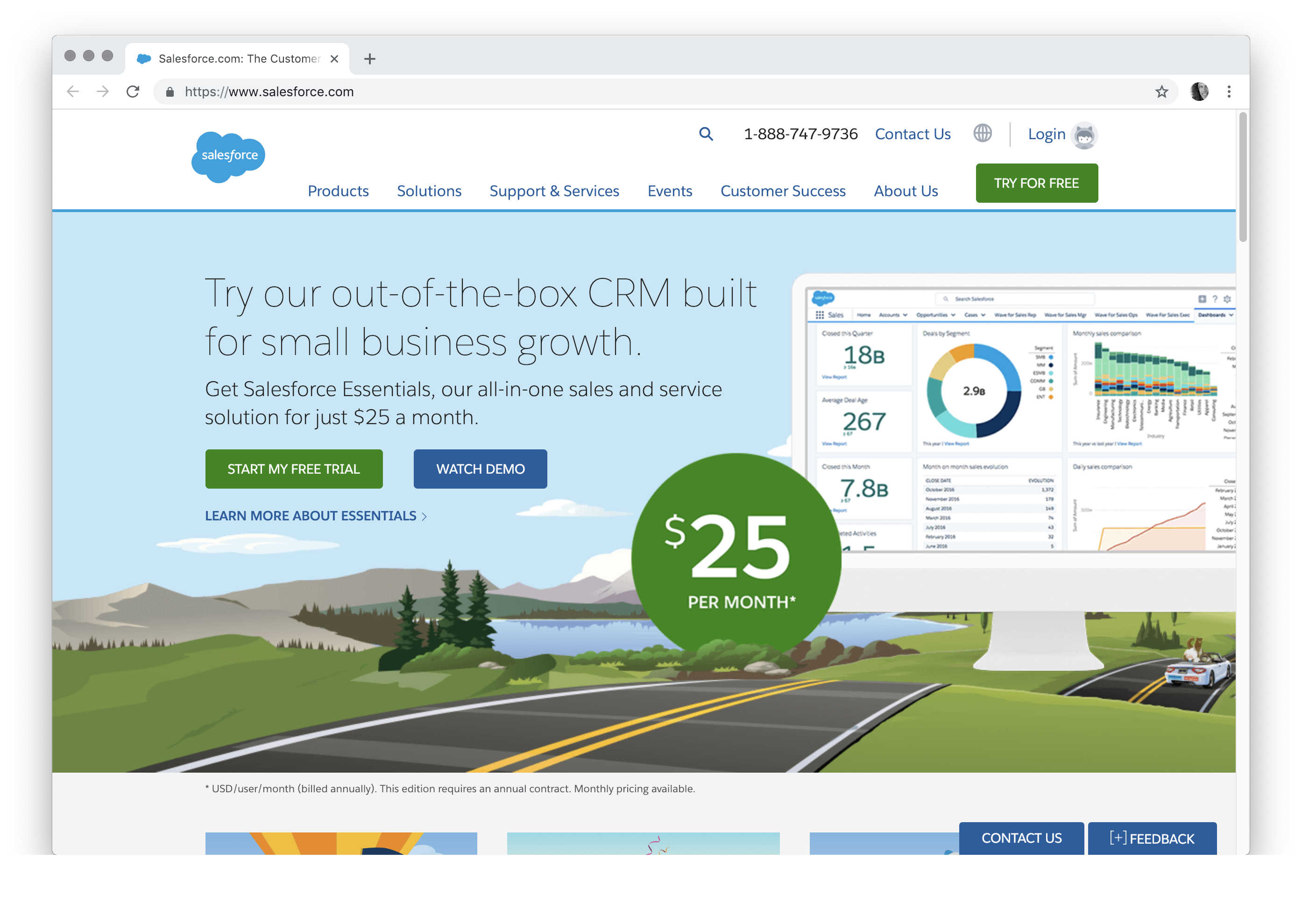 Try our out-of-the-box CRM built for small business growth. Get Salesforce Essentials, our all-in-one sales and service solution