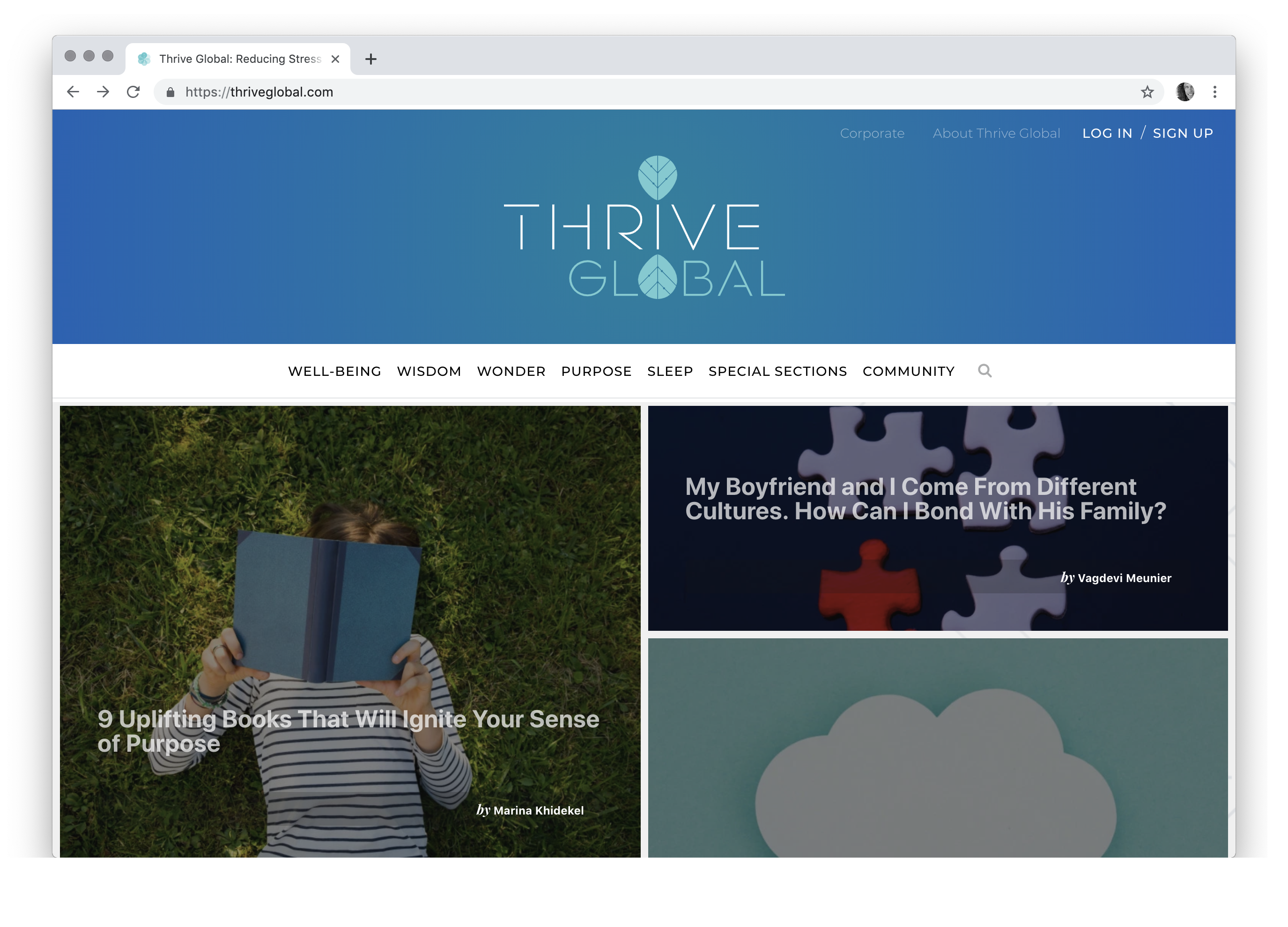 Thrive Global: Reducing Stress and Burnout, Promoting Health and Well-Being