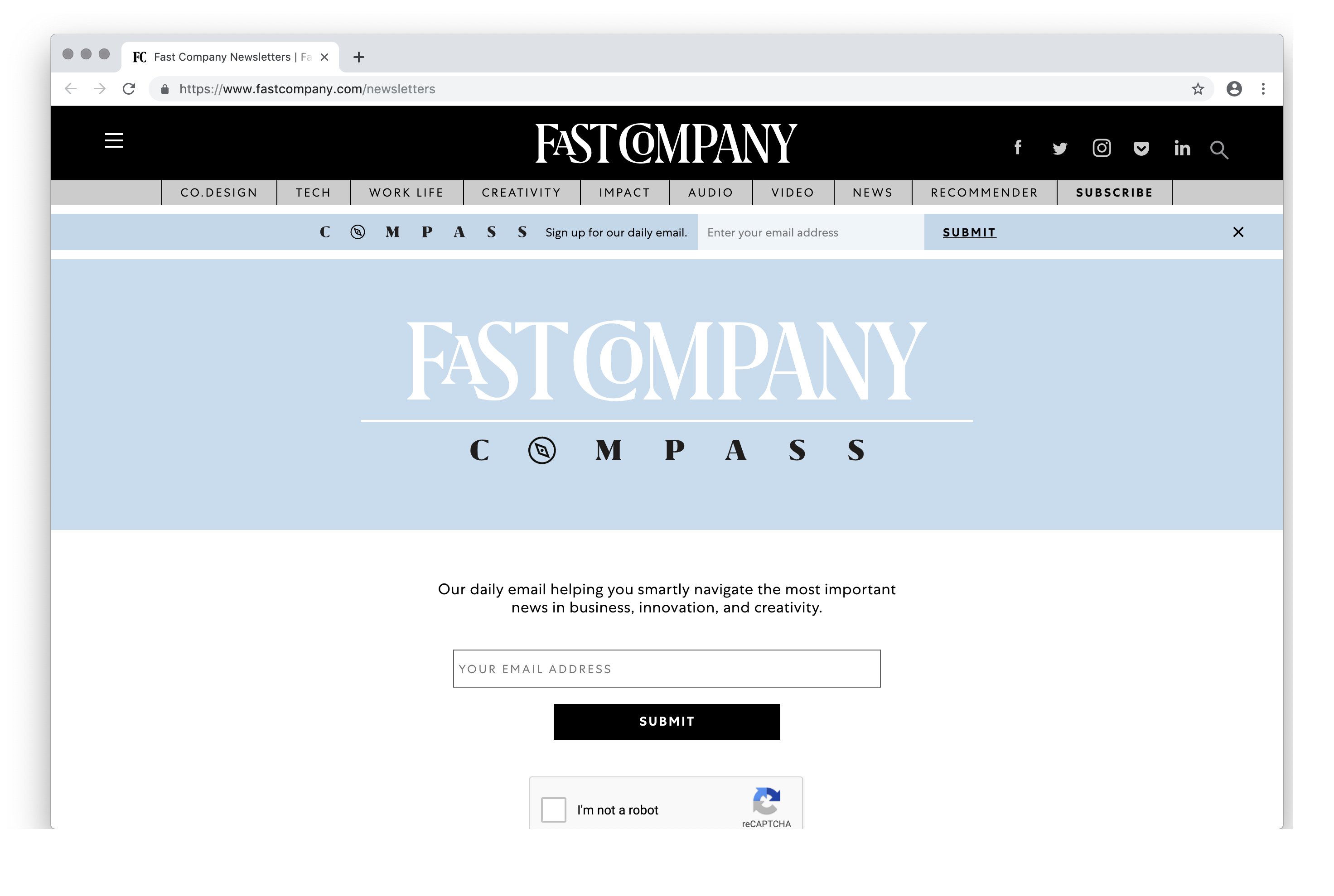 Fast Company Newsletters   Fast Company
