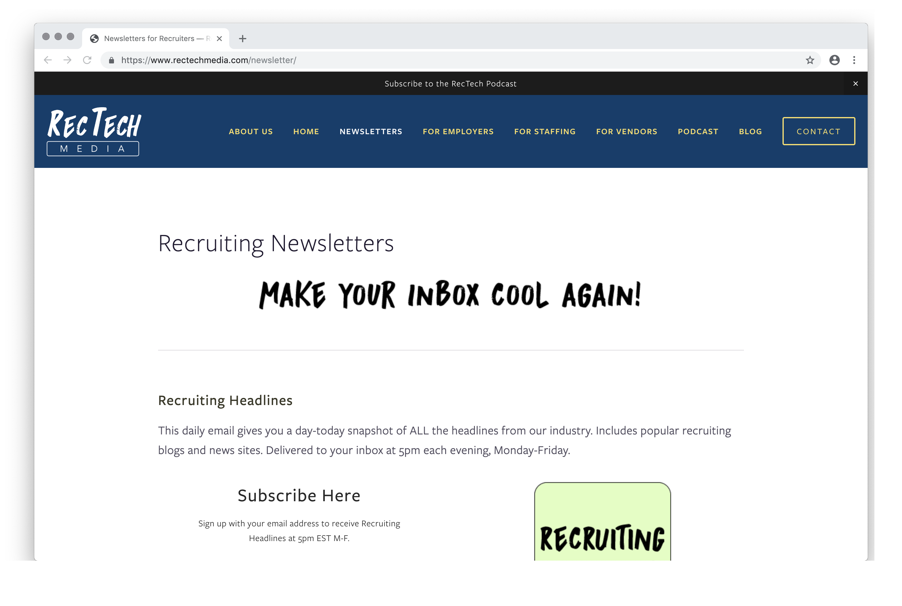 Newsletters for Recruiters — RecTech Media