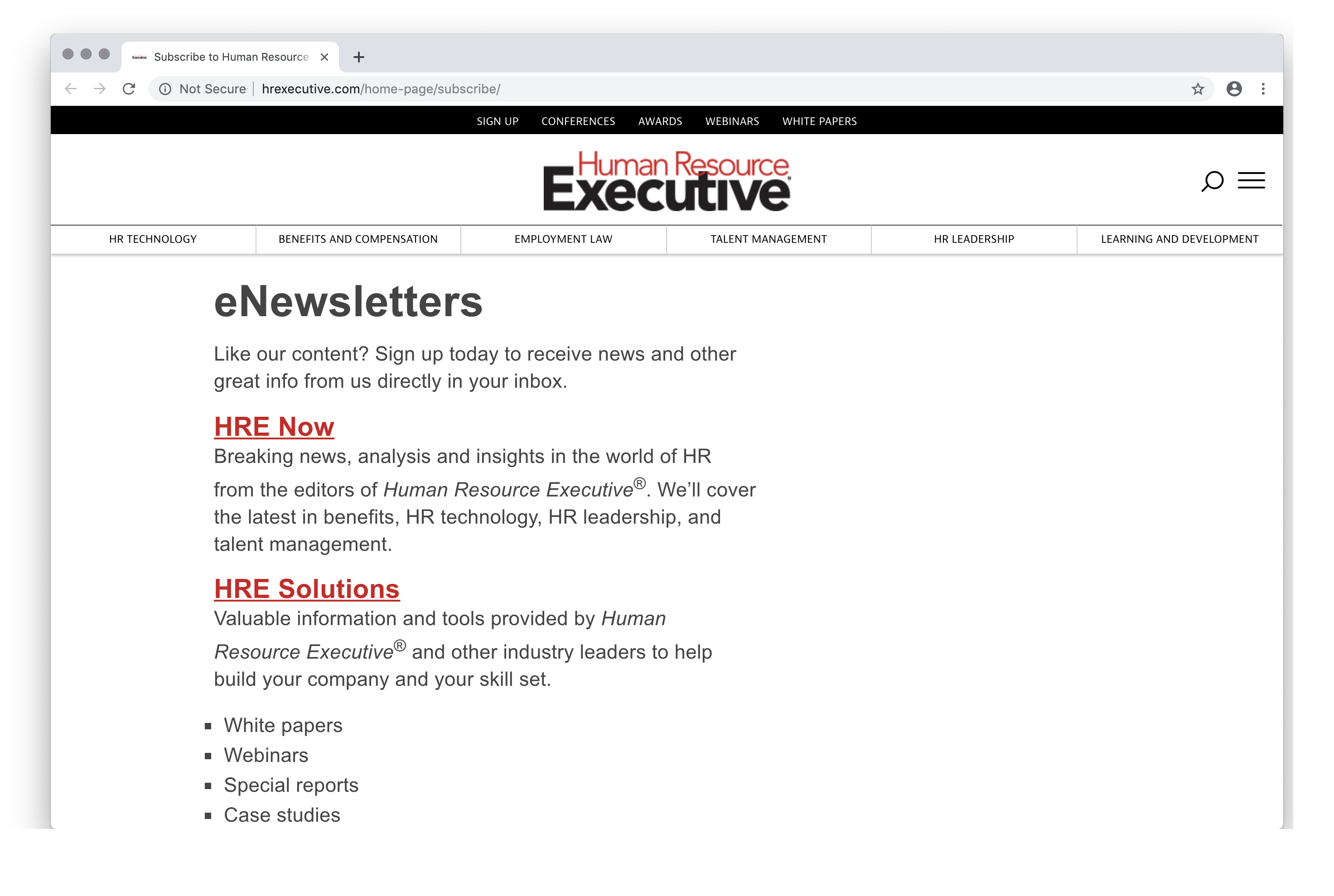 Subscribe to Human Resource Executive Newsletters : HRExecutive.com