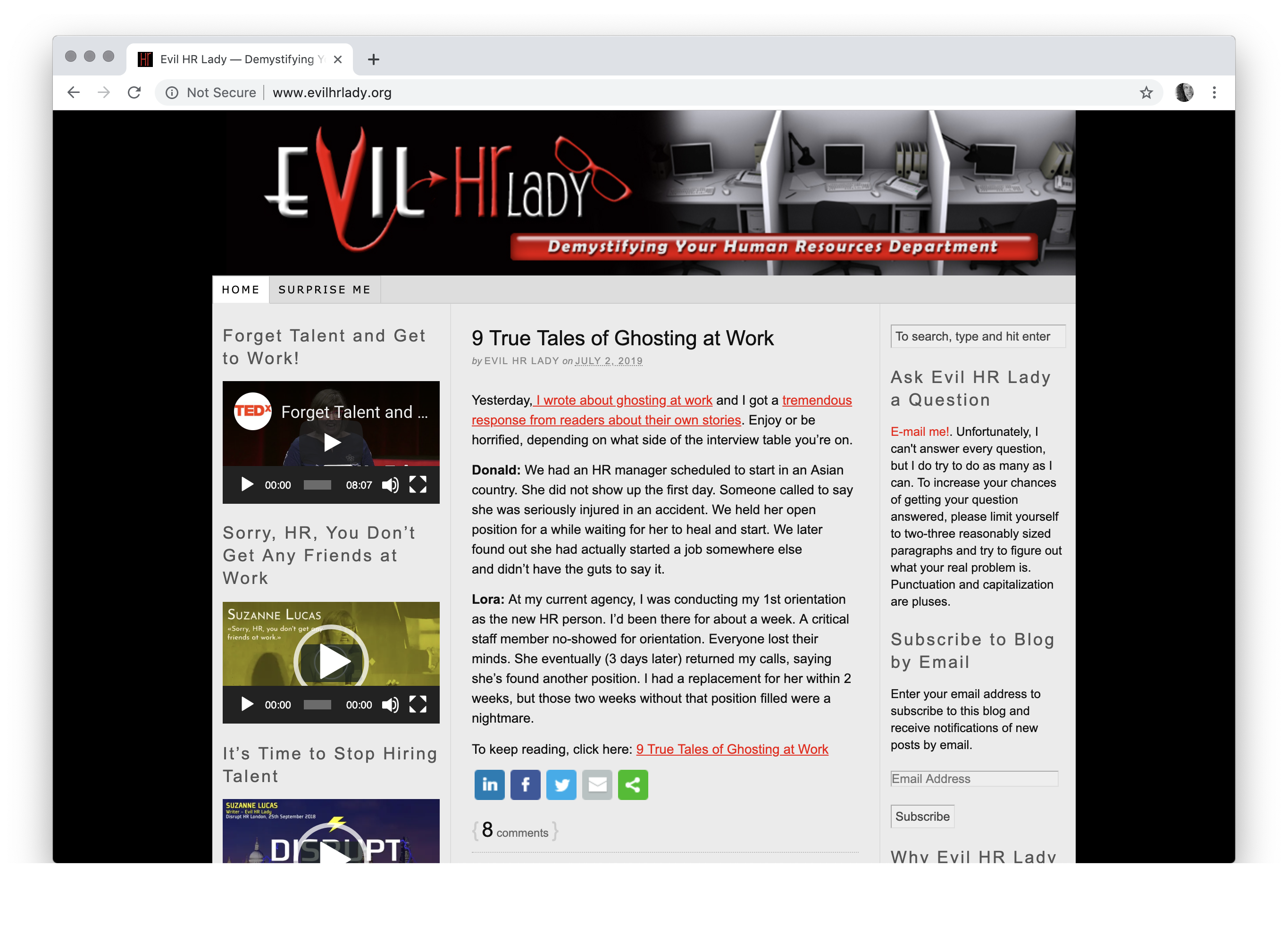 Evil HR Lady — Demystifying Your Human Resources Department