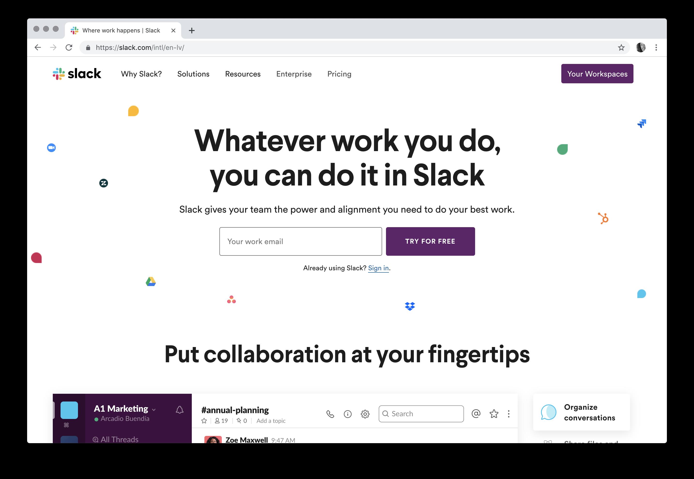 Where work happens | Slack