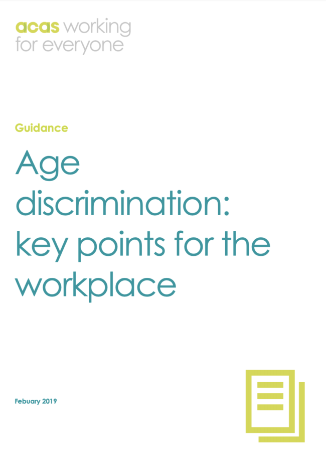 Guidance Age discrimination: key points for the workplace