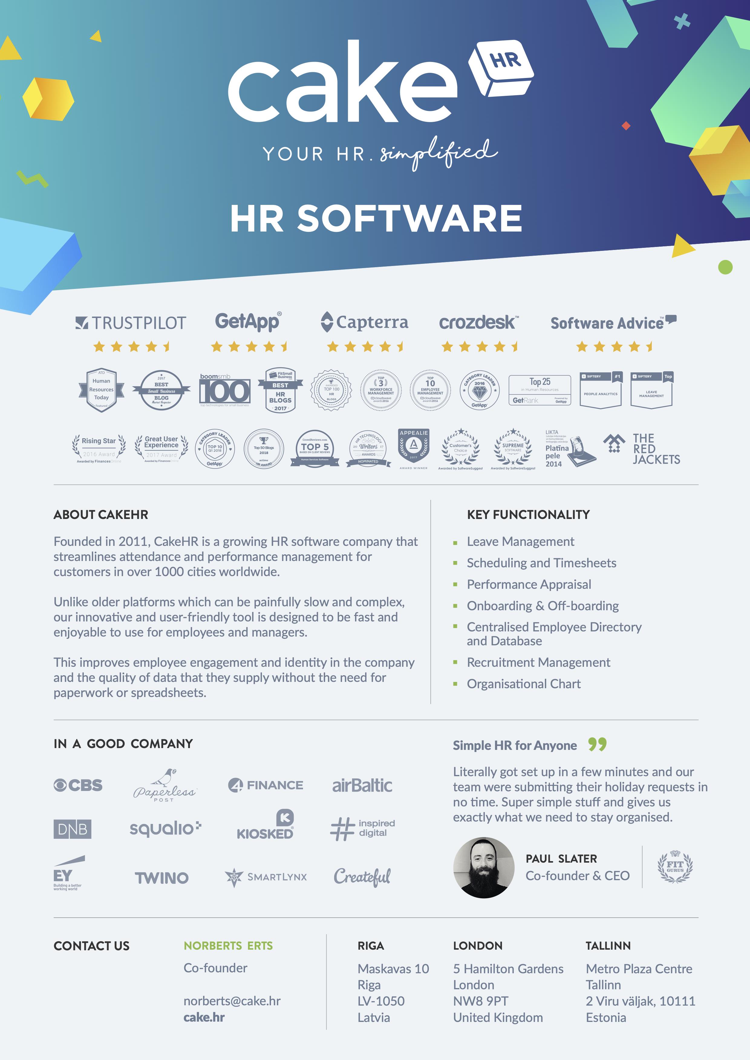 CakeHR - Your HR Analytics. Simplified!