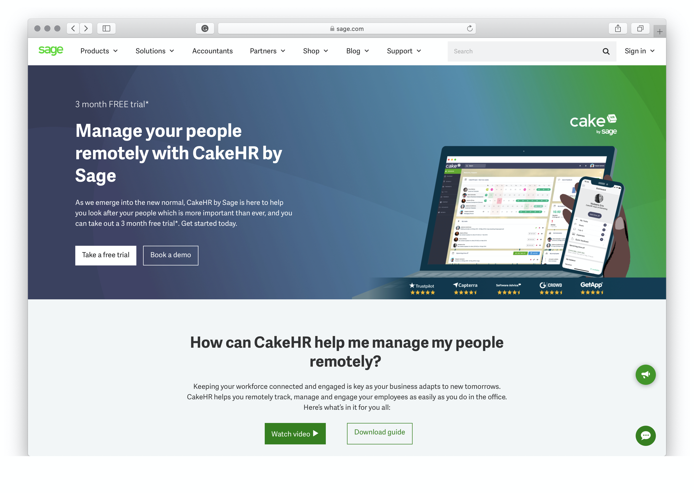 CakeHR - Human Resources Management Software | Sage UK
