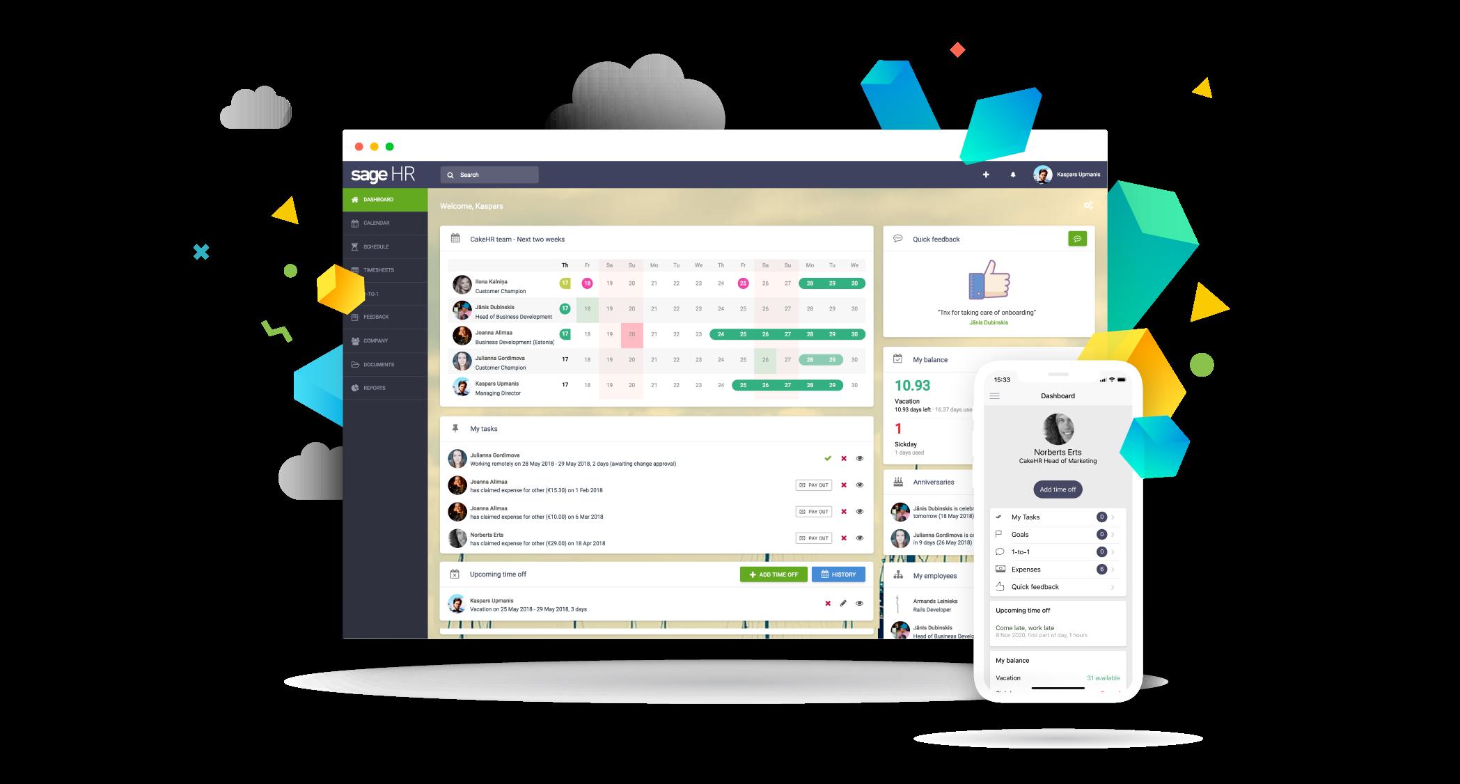 HR dashboard - Sage HR