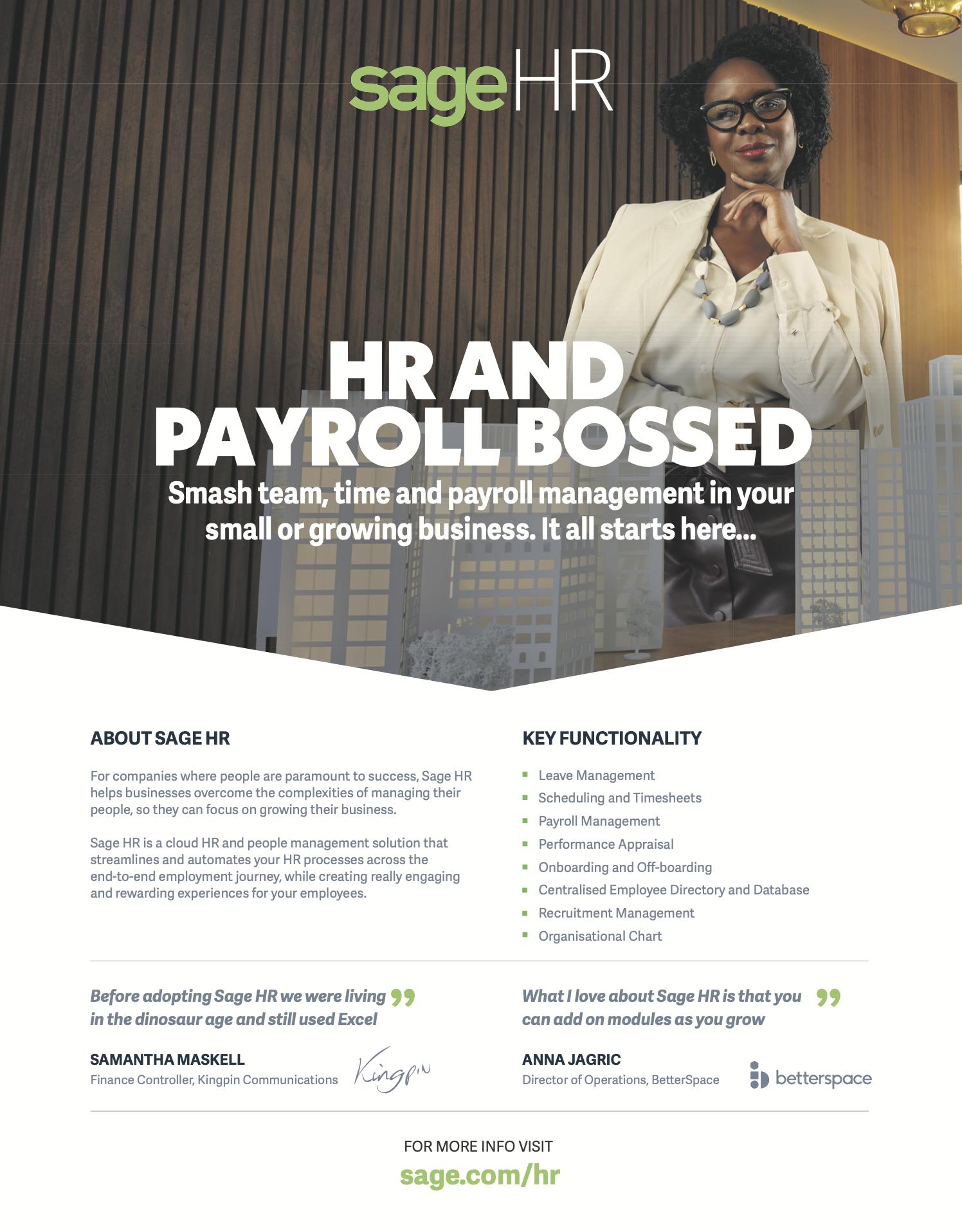 Sage HR Human Resources Tech