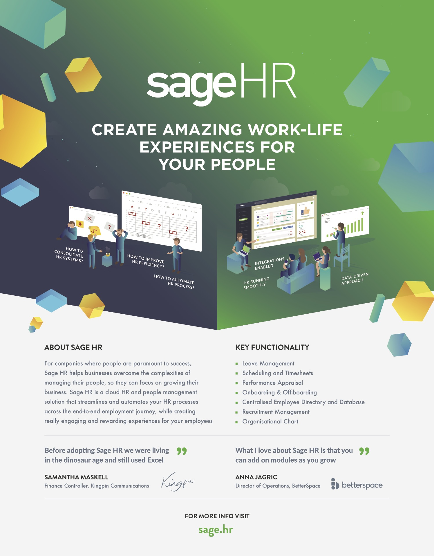 Sage HR - create amazing work-life experiences for you people!